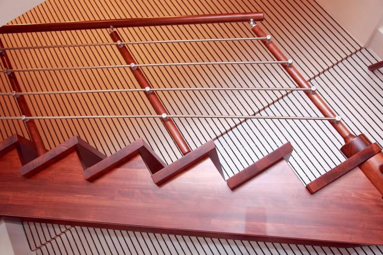 Σκάλα – οξιά και inox